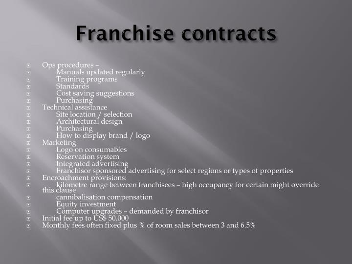 Franchise contracts