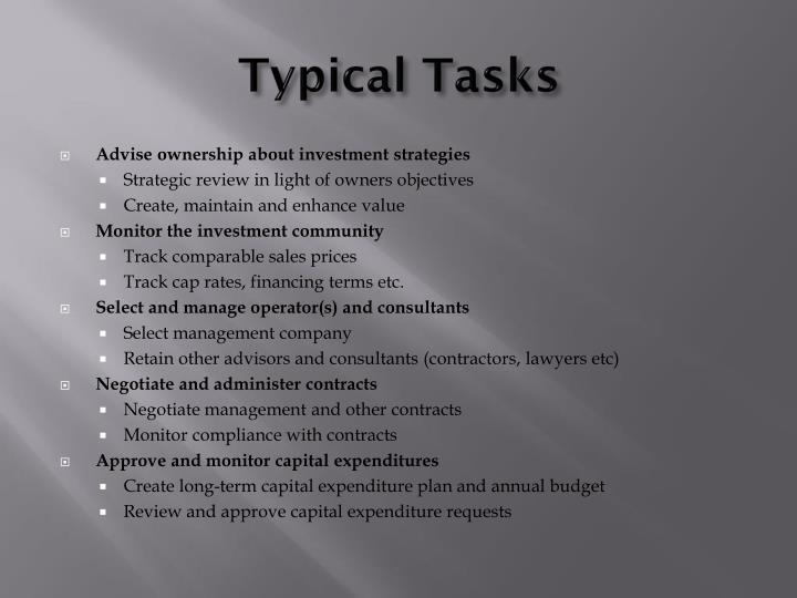 Typical Tasks
