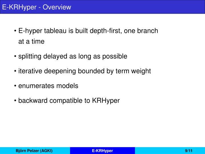 E-KRHyper - Overview