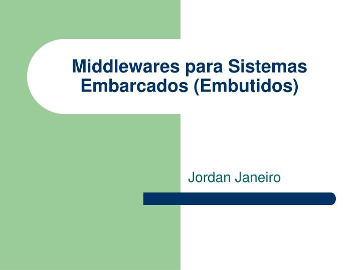 middlewares para sistemas embarcados embutidos n.