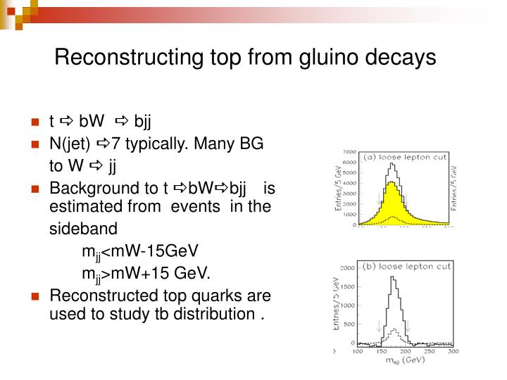 Reconstructing top from gluino decays