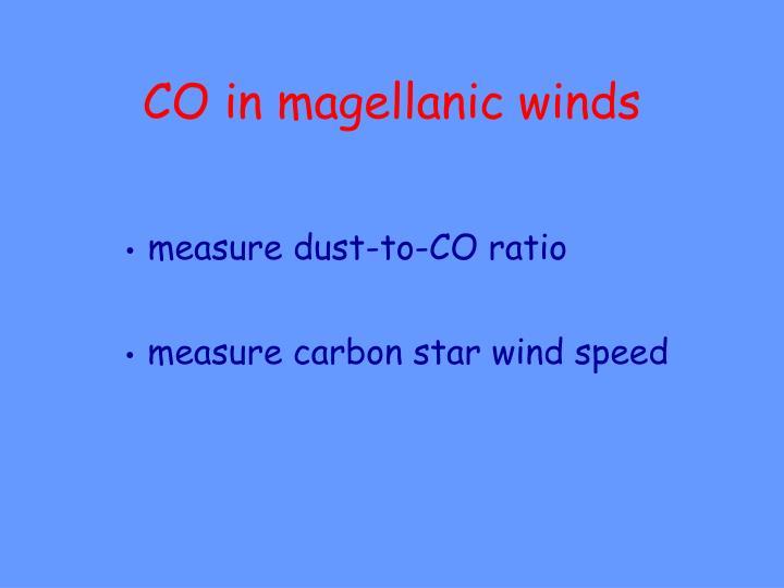 CO in magellanic winds