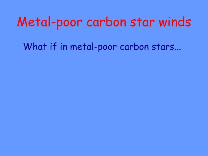 Metal-poor carbon star winds