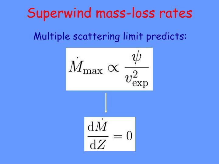 Superwind mass-loss rates