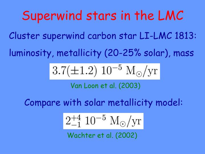 Superwind stars in the LMC