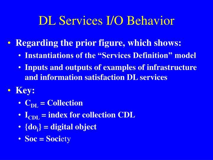 DL Services I/O Behavior