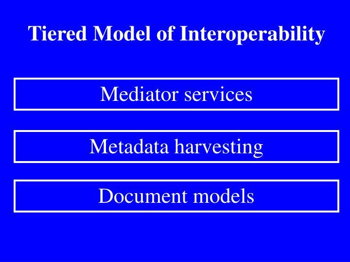 Tiered Model of Interoperability