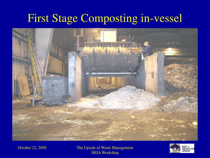 First Stage Composting in-vessel