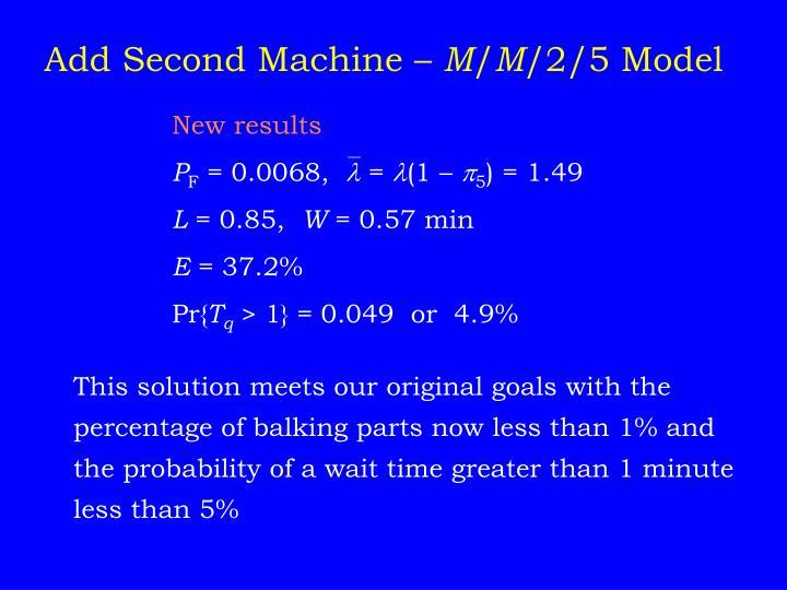 Add Second Machine –