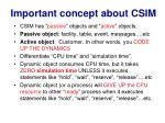 important concept about csim