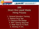 direct hire liquid waste srr direct hire liquid waste hiring process