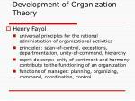 development of organization theory2