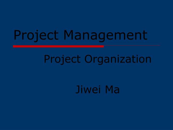 project management n.