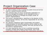 project organization case