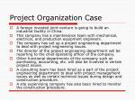 project organization case2
