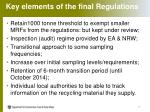 key elements of the final regulations