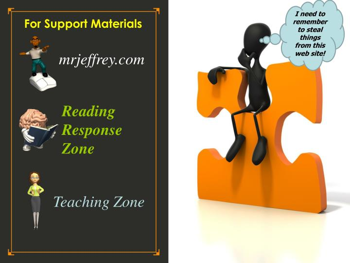 For Support Materials