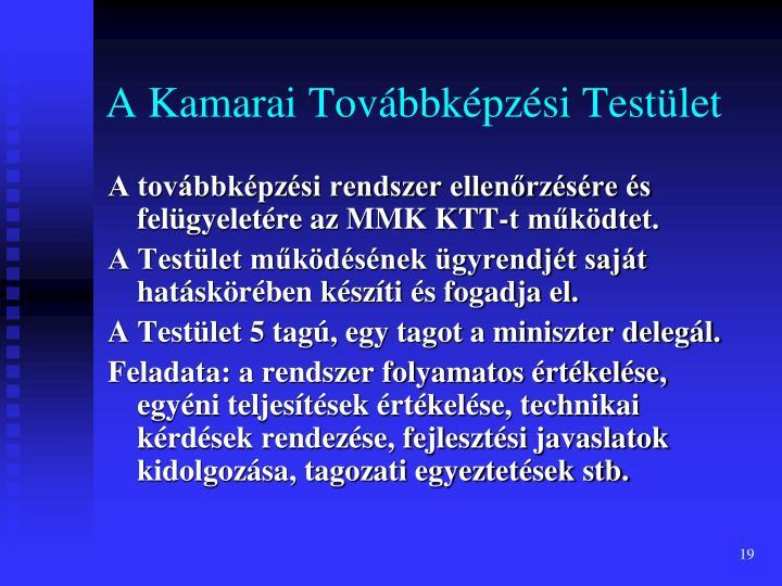 A Kamarai Továbbképzési Testület
