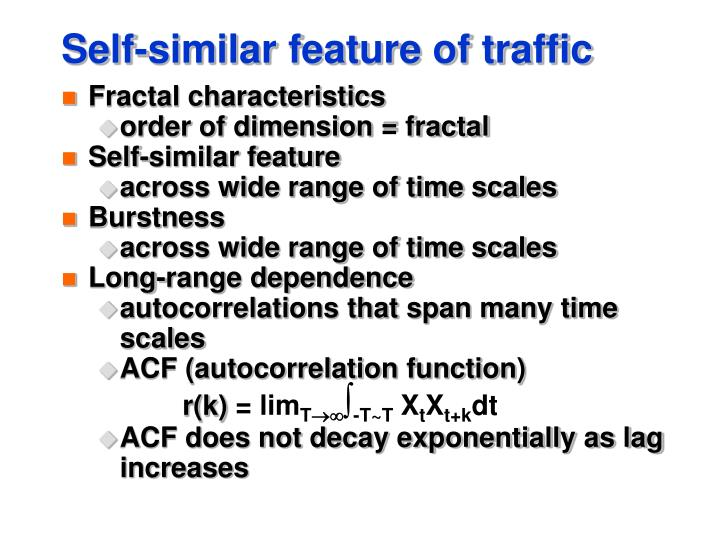 Self-similar feature of traffic
