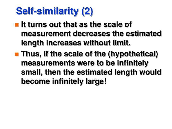 Self-similarity (2)