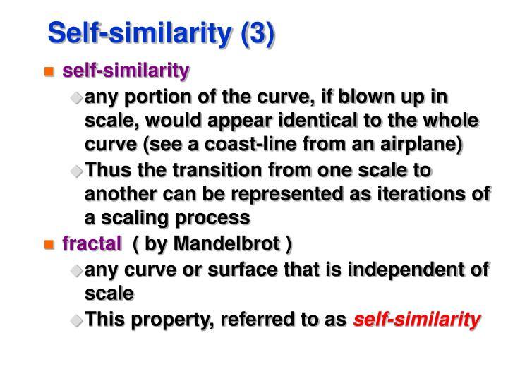 Self-similarity (3)