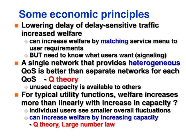 Some economic principles