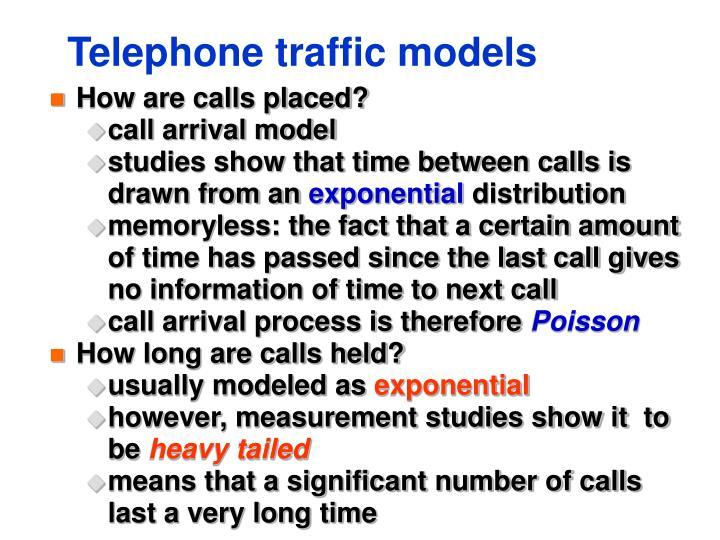 Telephone traffic models