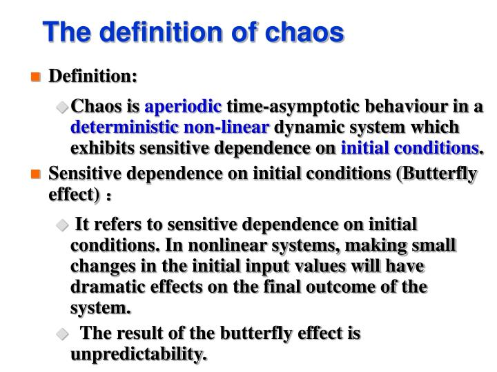The definition of chaos