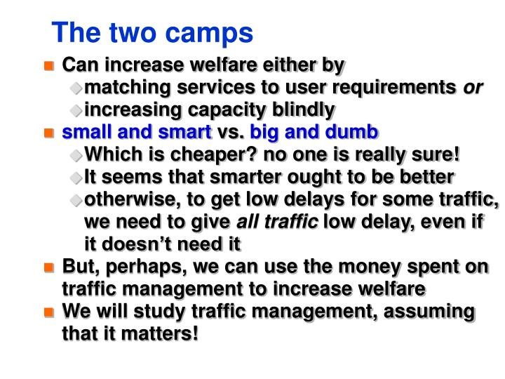 The two camps