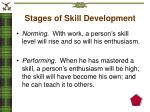 stages of skill development1