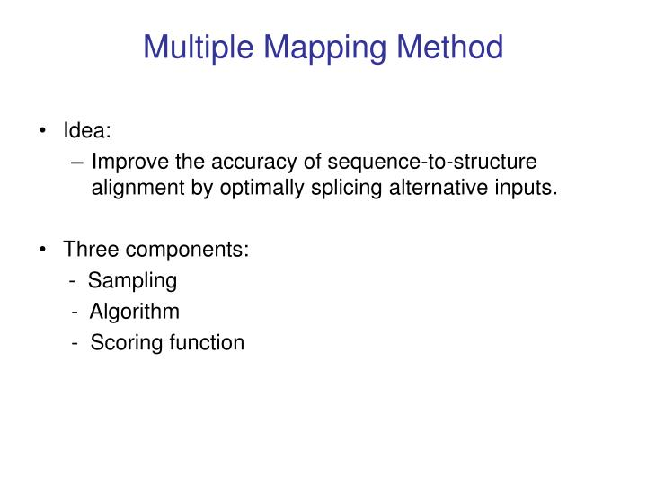 Multiple Mapping Method