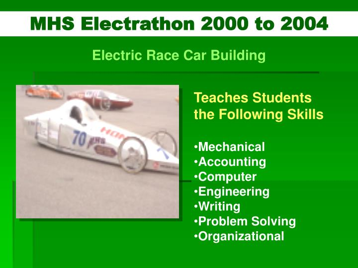 MHS Electrathon 2000 to 2004