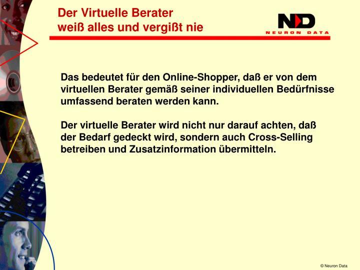 Der Virtuelle Berater