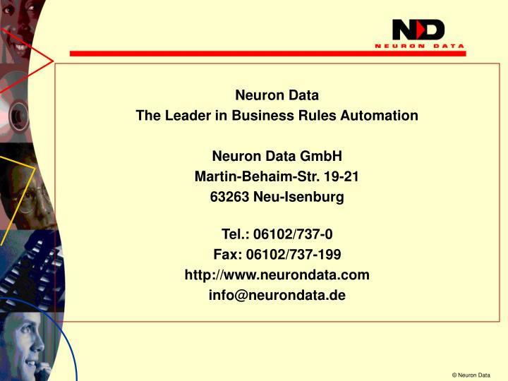 Neuron Data