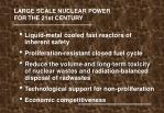 large scale nuclear power for the 21st century
