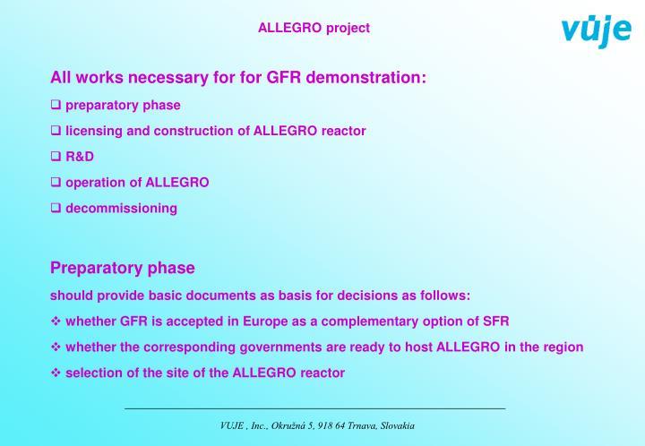 ALLEGRO project