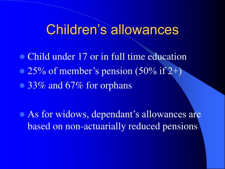 Children's allowances