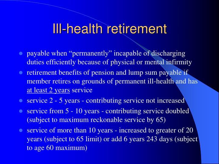 Ill-health retirement