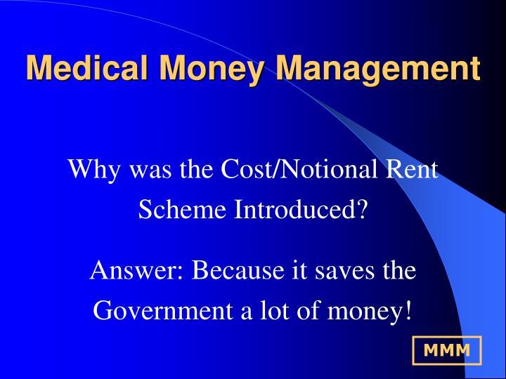 Medical money management1