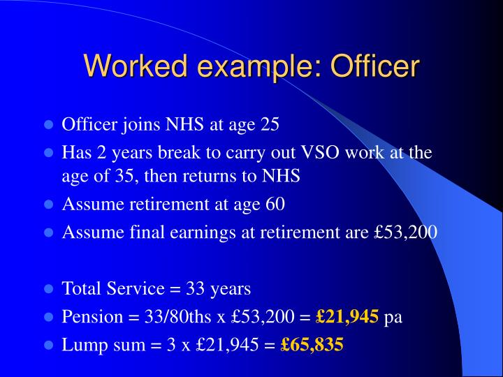 Worked example: Officer