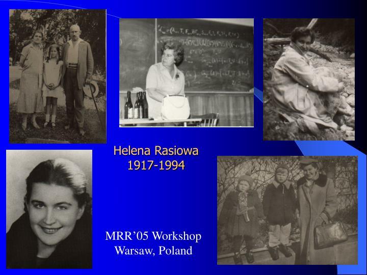 helena rasiowa 1917 1994 n.