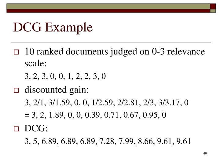 DCG Example