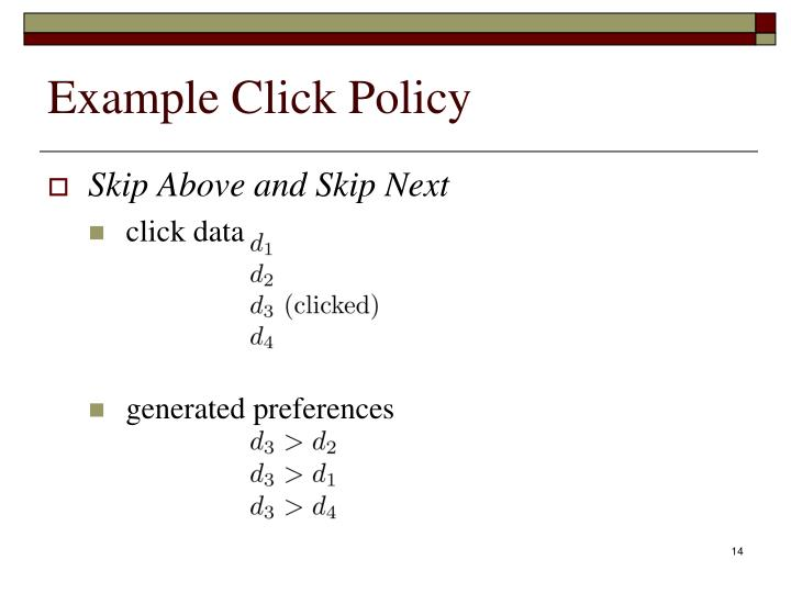 Example Click Policy