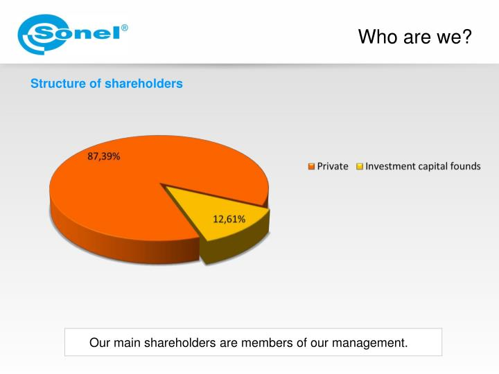 Our main shareholders are members of our management.