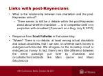 links with post keynesians
