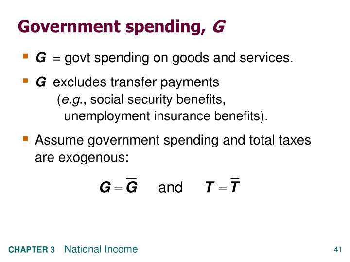 Government spending,