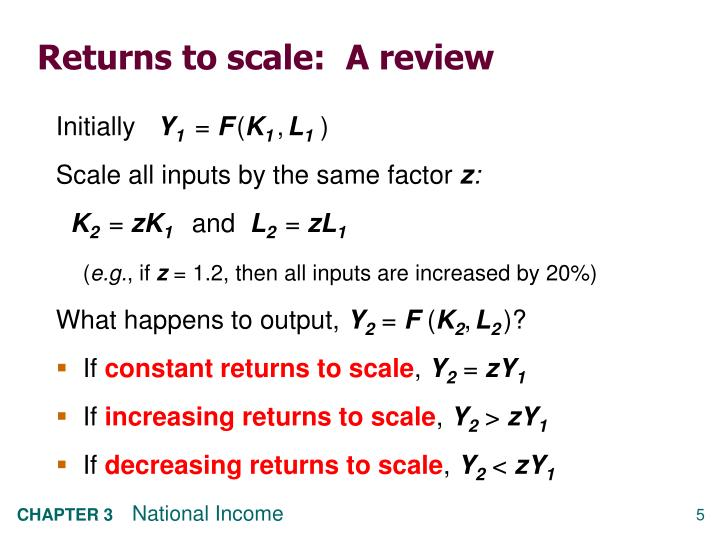Returns to scale:  A review