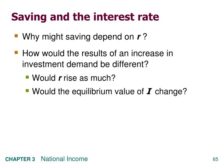 Saving and the interest rate