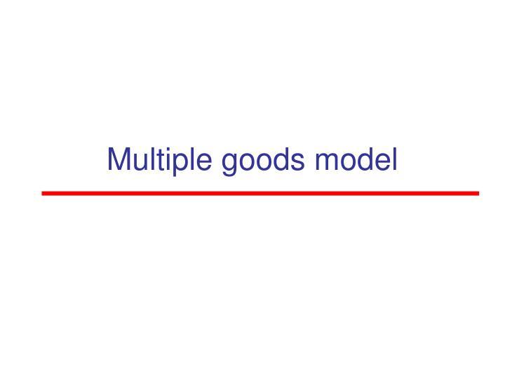 Multiple goods model