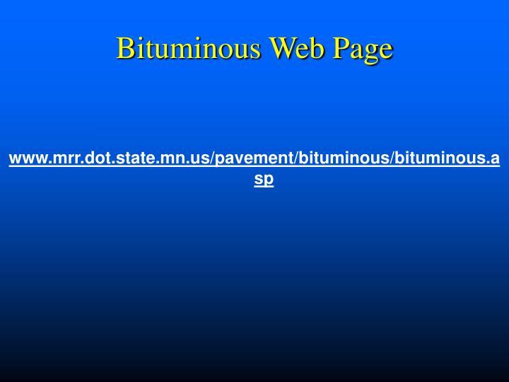 Bituminous Web Page